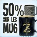 [Uniquement aujourd'hui] -50% sur tout les mugs @ Micromania