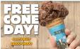 Le 04/04/17: Free Cône Day : Glaces gratuites dans plusieurs villes @ Ben&Jerry