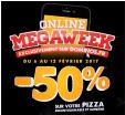 Pizzas à -50% Incontournables et suprêmes pour une commande en ligne @ Domino's