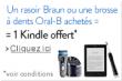 Bon plan Amazon : Un rasoir Braun CoolTec ou une brosse à dents Oral-B Trizone 7000 Black achetés = 1 Kindle offert