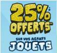 25% en 3 bons d'achat sur les jouets @ Cdiscount