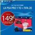 PS4 Pro + Fifa 20 à partir de 149.99€ en revendant une console (ex: PS4 + 174.99€) @ Micromania