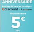 Abonnement 1 an Cdiscount à volonté à 5€ au lieu de 29€ @ Cdiscount