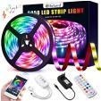 Bande LED 5 mètres 5050 RGB 150 LEDs avec synchro musique à 17.49€ au lieu de 24.99€ @ Amazon (vendeur tiers)