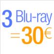 Opération 3 Blu-ray = 30€ @ Amazon