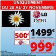 Bon plan Auchan : TV OLED 55 LG 55EG9A7V 1080p à 999€ via ODR