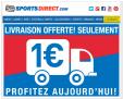 Livraison DHL à 1€ chez Sportsdirect