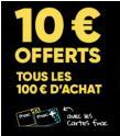 Adhérents : 10€ en chèques cadeaux par tranches de 100€ @ Fnac