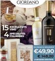 Bon plan Giordanovins : Coffret 15 vins italiens + 4 spécialités italiennes à 49.9€ port compris au lieu de 148.2€