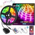 Ruban LED Blutooth + télécommade + synchro musique, 5M 5050 RGB 150 LEDs à 10.99€ au lieu de 21.99€ @ Amazon (vendeur tiers)