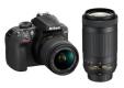 Nikon D3400 avec 2 objectifs 18-55 et 70-300 à 641.19€ @ Rue Du Commerce