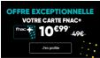 Carte Fnac + 1 an à 10.99€ au lieu de 49€ @ Fnac