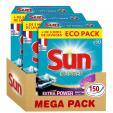 Bon plan Amazon : Sun Tablettes Lave-Vaisselle Tout en 1 Expert Power 150 Lavages (Lot de 3x50 Lavages) à 22.74€ en s'abonnant au lieu de 33.84€