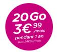 Forfait illimité B&You Série limitée 20Go à 3€99 par mois (et 1.49€ pour les anciens clients) pendant 12 mois au lieu de 24.99€ @ B&You