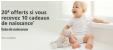 20€ offerts pour une liste de naissance avec 10 articles commandés @ Amazon