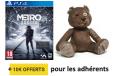 Bon plan Fnac : 10€ de chèques cadeaux + peluche offerte pour la préco de Metro Exodus sur Ps4 , Xbox One et Pc à 52.99€