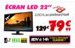 Packard Bell moniteur 225DXLbd 21.5 1080p 5ms à 79.9€ au lieu de 97€ @ Cdiscount