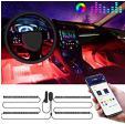 Bande LED double RVB pour voiture, contrôlables par la musique ou smartphone à 16.79€ au lieu de 23.99€ @ Amazon (vendeur tiers)