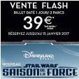 Vente flash Billet Disneyland 1 Jour 2 Parcs Adulte ou Enfant pour 39€ @ Fnac / Carrefour