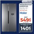 HAIER HRF-522IG6 Réfrigérateur US - 500 L Total no frost A+ : 549.99€ @ Cdiscount