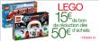 15€ de remise sur les Lego pour 50€ d'achats @ Amazon