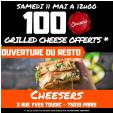 1 Grilled Cheese offert @ Cheesers Paris