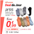 Bon plan Aliexpress : Jeudi 9h : Lot de 5 paires de chaussettes à 0.99€ au lieu de 5.99€