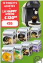 Machine à boissons Tassimo Happy + 12 paquets de boissons à 55€ port compris au lieu de 130.64€ @ Tassimo
