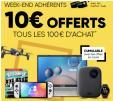 Bon plan Fnac : Adhérents : 10€ en chèques cadeaux par tranches de 100€