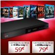 Pack Lecteur Blu-ray 3D LG BP440 + 4 ou 8 Films à partir de 51€ port inclus @ M6 Vidéo