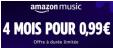 Nouveaux membres :  4 mois d'abonnement à Amazon Music Unlimited pour 0,99 € @ Amazon