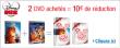 2 Dvd Disney = 10€ de remise immédiate + 1 coffret cadeau