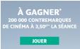 Bon plan  : Contremarque pour place de cinéma à 3.5€  du 9 au 15 septembre 2015