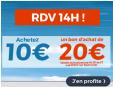 Dès 14h : 10€ le bon d'achat de 20€ valable sur tout le site du 25/11 au 27/11 @ Cdiscount