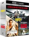 Bon plan Amazon : Coffret : Fury + The Patriot + Le Pont de la rivière Kwaï [4K Ultra HD à 21.99€