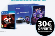 Playstation VR + caméra V2 + VR Worlds + Gran Turismo à 199.99€ +30€ offerts chez Wonderbox @ Micromania