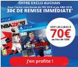 PES 2018 + NBA 2K18 pour 70€ les 2 @Auchan