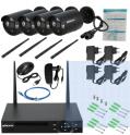 Kit enregistreur wifi + 4 caméras IP sans fil intérieures / extérieures 720p à 99.54€ @ Tomtop
