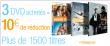 3 DVD achetés = 10€ de réduction (Beaucoup de choix et de DVD de 6 à 10€)