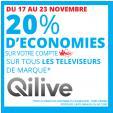 Bon plan Auchan : 20% de remise sur les TV de la marque QILIVE