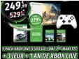 Xbox One S + 2ème manette + 4 jeux + 1 an de Xbox Live à 249.99€ au lieu de 469€ @ Micromania