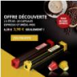Bon plan  : 20 capsules café compatibles Nespresso à 3,90€ port compris