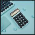 Xiaomi LOFREE EH113P Digital Retro Mechanical Calculator - Cyan à 15€ au lieu de 30€ @ Rosegal