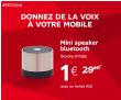 Bon plan RED by Sfr : Enceinte bluetooth à 1€ (et le 1er mois offert) chez RED