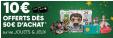 Adhérents : 10€ offerts en chèques cadeaux dès 50€ d'achat en Jeux-jouets @ Fnac