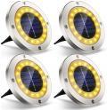 Bon plan Amazon : Lot de 4 lampes solaires Extérieures 16 leds à 11.95€ au lieu de 22.99€